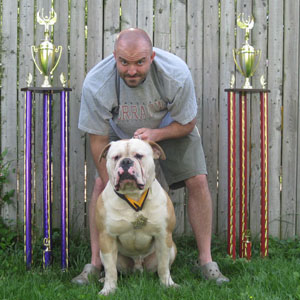 Congo's trophies from APA weight pull